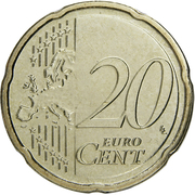 20 cents d'euro Henri (2e carte) -  revers