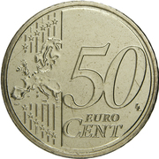 50 cents d'euro Henri (2e carte) -  revers