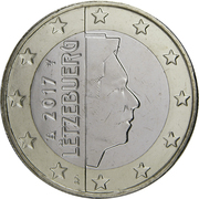 1 euro Henri (2e carte) – avers
