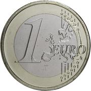 1 euro Henri (2e carte) – revers