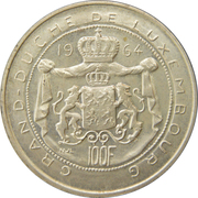 100 francs - Jean – revers