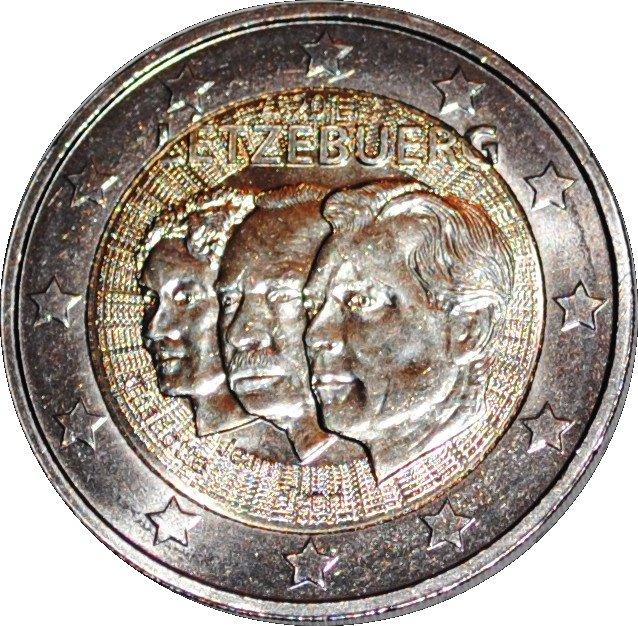 2 Euros Jean Lieutenant Representant Luxembourg Numista