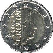 2 euros Henri (1ère carte) – avers