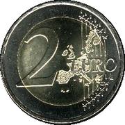 2 euros Henri (1ère carte) – revers