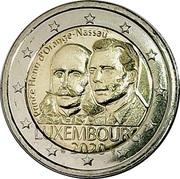 2 euros Henri d'Orange-Nassau -  avers