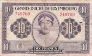 10 Francs/Frang Type 1944 – avers