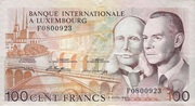 100 Francs/Frang Type 1981 – avers