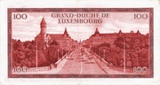 100 Francs/Frang Type 1970 – revers