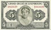 5 Francs 1944-1954 – avers