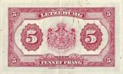 5 Francs 1944-1954 – revers