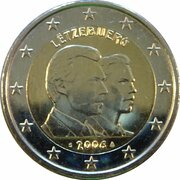 2 euros Grand-duc héritier Guillaume – avers