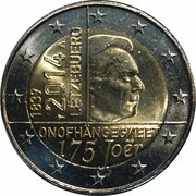 2 euros Traité de Londres – avers