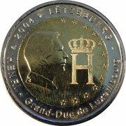 2 euros Monogramme du Grand-Duc Henri -  avers