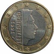 1 euro Henri (1ère carte) – avers