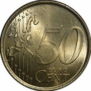 50 cents d'euro Henri (1ère carte) – revers