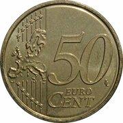 50 cents d'euro Henri (2e carte) – revers