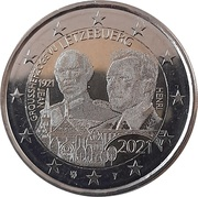 2 euros Grand-Duc Jean (version hologramme) -  avers