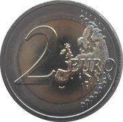 2 euros Grand-Duc Guillaume IV -  revers