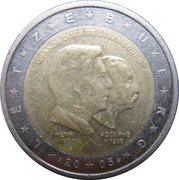 2 euros Grands-Ducs Henri et Adolphe -  avers