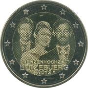 2 euros Mariage princier – avers