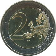 2 euros Mariage princier – revers