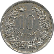 10 centimes - Adolphe -  revers