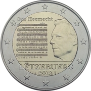 2 euros Hymne National -  avers