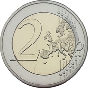 2 euros Hymne National -  revers