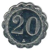 20 centimes Comptoir Léon Lyon (69) – revers