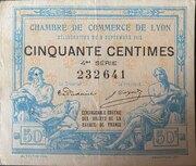 50 centimes - Chambre de Commerce de Lyon [69] – avers