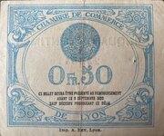 50 centimes - Chambre de Commerce de Lyon [69] – revers