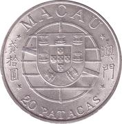 20 patacas (pont Macao-Taipa) – avers
