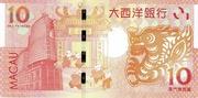10 Patacas Year of Dragon BNU – revers