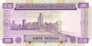 20 Patacas (Banco Nacional Ultramarino) – revers