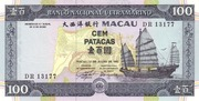 100 Patacas (Banco Nacional Ultramarino) -  avers