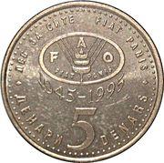 5 denari (FAO) – revers