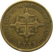 1 Denar (2000 ans du christianisme) -  avers