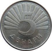 5 denari – revers