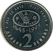 2 denari (FAO) – revers
