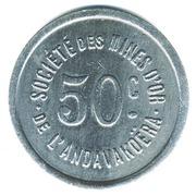 50 centimes - Sté des mines d'or de l'Andavakoëra – revers