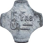 5 francs Diégo-Suarez – revers