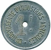 1 franc Cie NOSYBEENNE D'INDUSTRIES AGRICOLES – avers