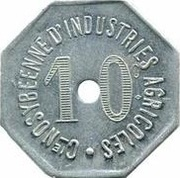 10 centimes Cie NOSYBEENNE D'INDUSTRIES AGRICOLES – avers