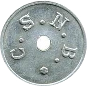 5 centimes Sucrière de Nossi-Bé – revers