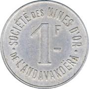 1 franc - Sté des mines d'or de l'Andavakoëra – revers