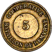 5 centimes Tananarive – avers
