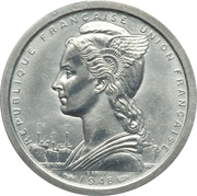 2 francs (Piéfort essai) -  avers