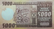 5000 Francs / 1000 Ariary (1975) – revers