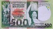 500 Francs / 100 Ariary (1975) – avers