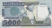 5000 Francs / 1000 Ariary (1988) – avers